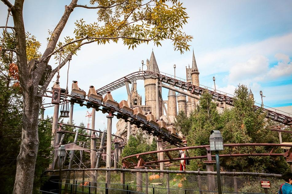 Flight of the Hippogriff roller-coaster at Universal Studios Japan