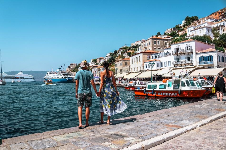 Couple at Idra Island, Greece