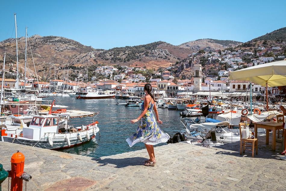 Girl at Idra Island, Greece