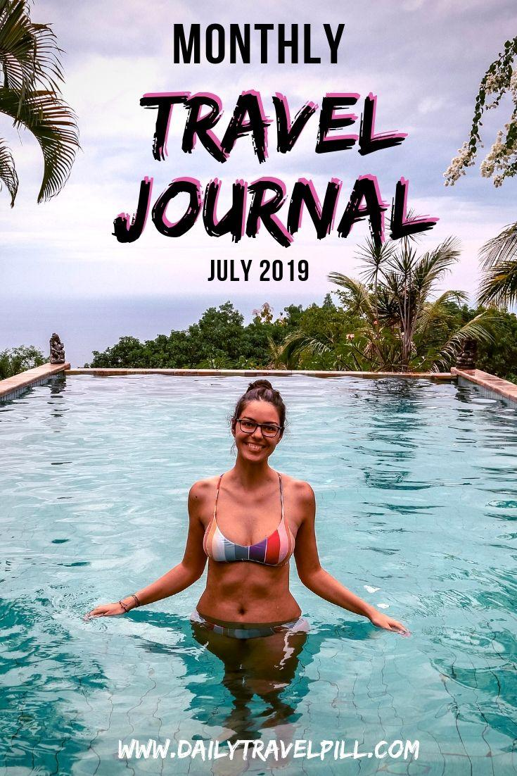 Monthly Travel Journal July 2019