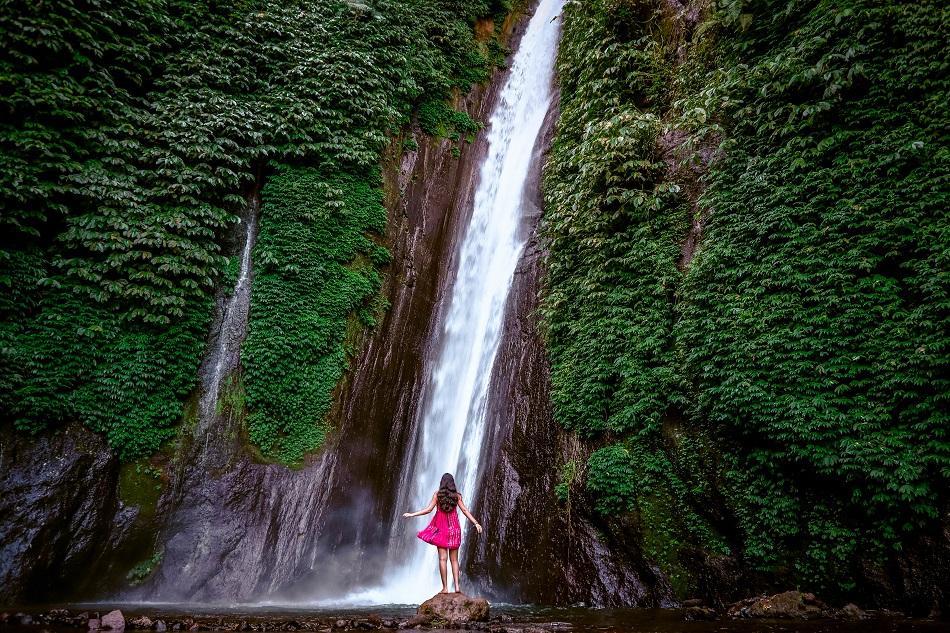 Girl at Munduk Waterfall, Bali