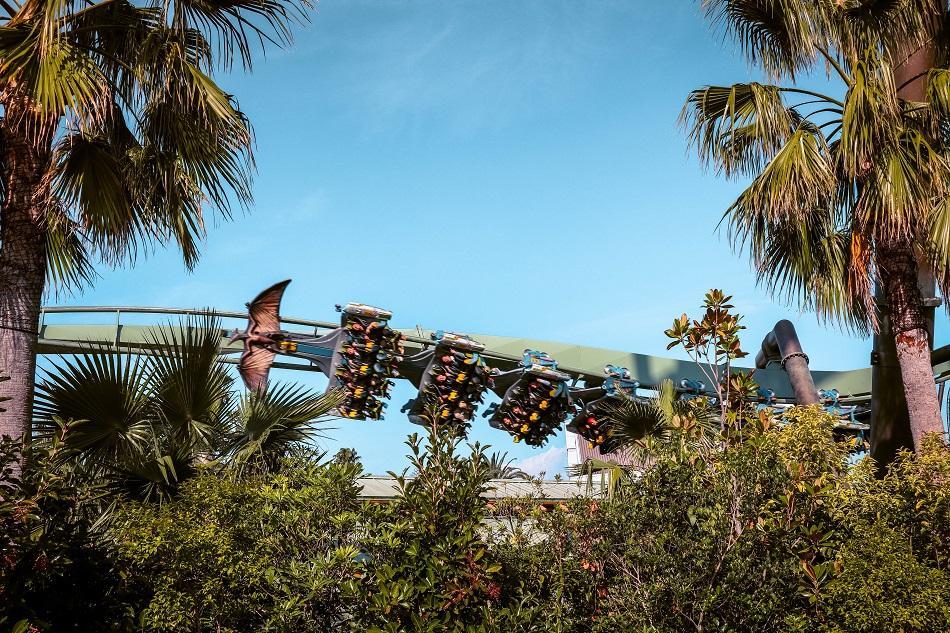 The Flying Dinosaur roller-coaster at Universal Studios Japan