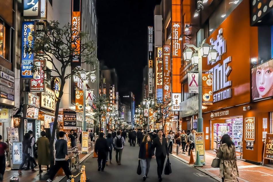 Kabukicho red light district in Tokyo