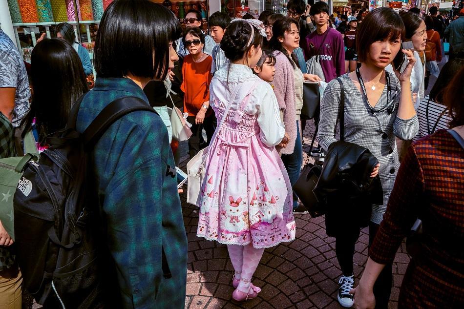 Harajuku girl in Harajuku district, Tokyo