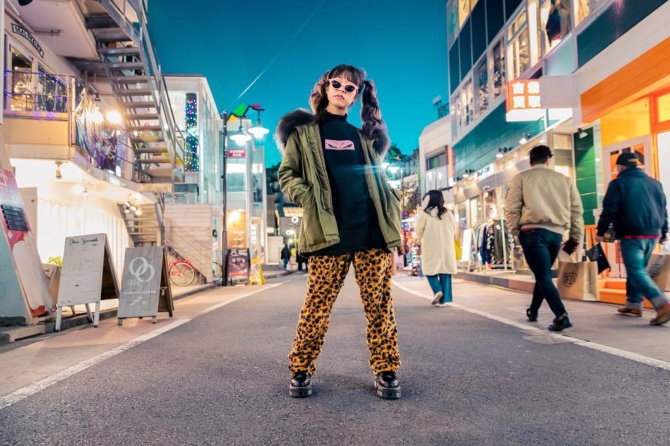Girl dressed in Harajuku, Tokyo