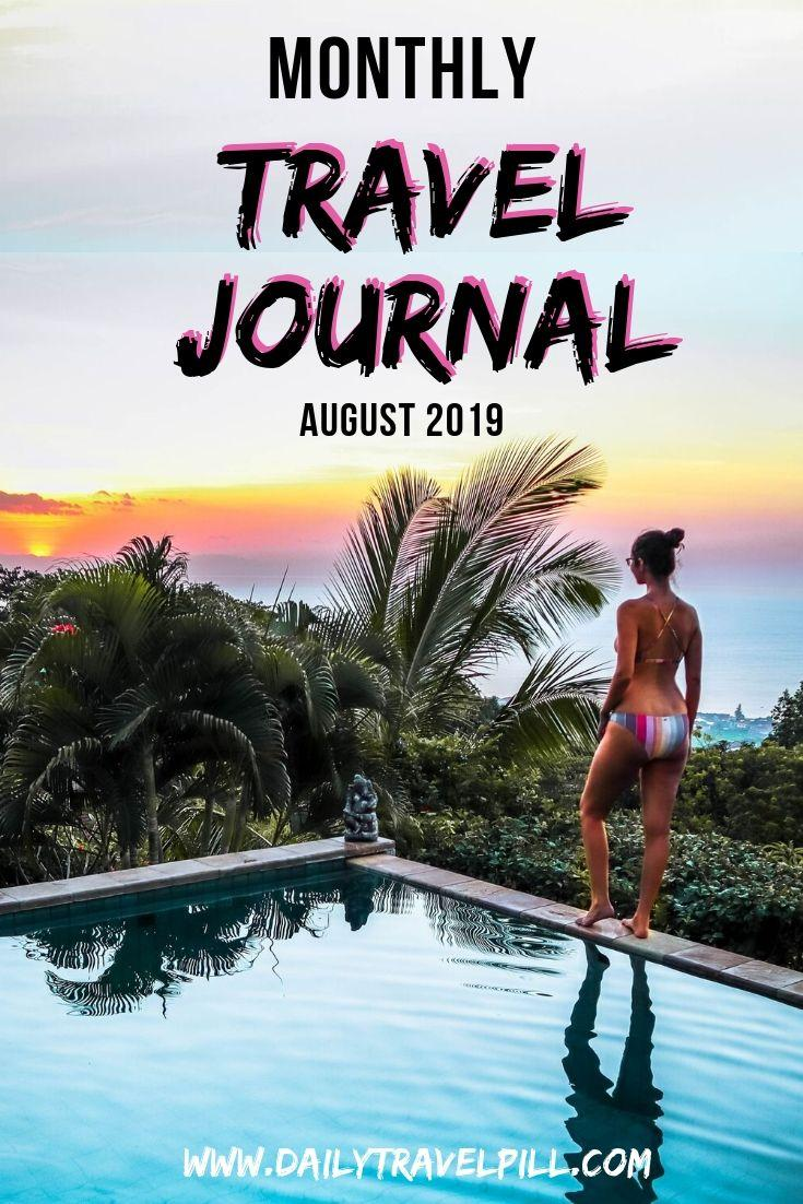 Monthly Travel Journal August 2019