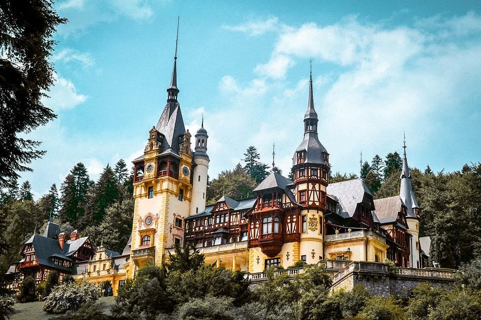 View of Peles Castle, Romania
