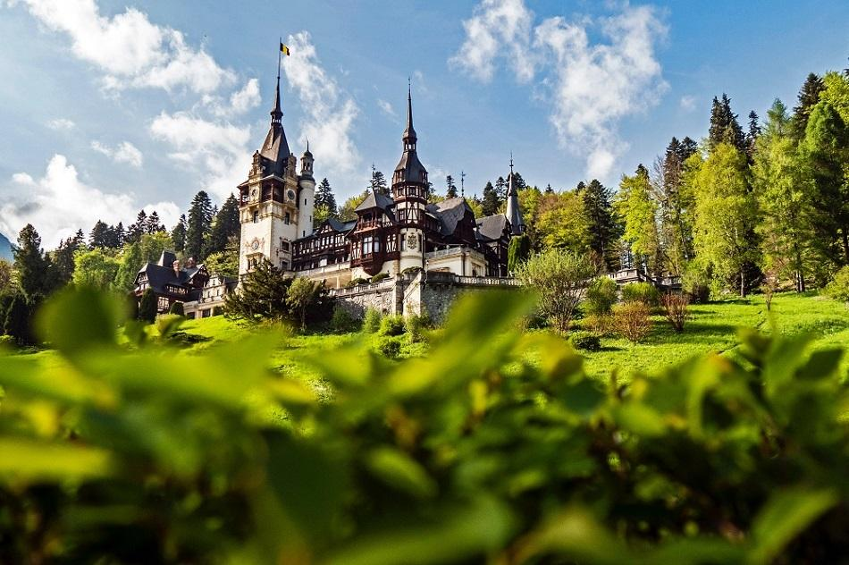 Peles Castle front view Romania