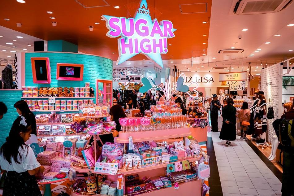 Shopping store in Harajuku Tokyo