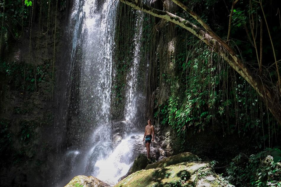 Man at Dimiao Twin Falls