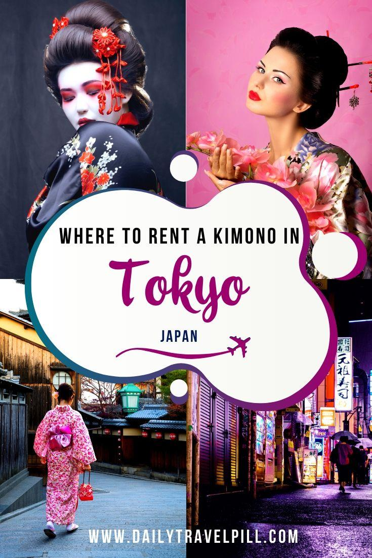 Wearing a kimono in Tokyo - where to rent one