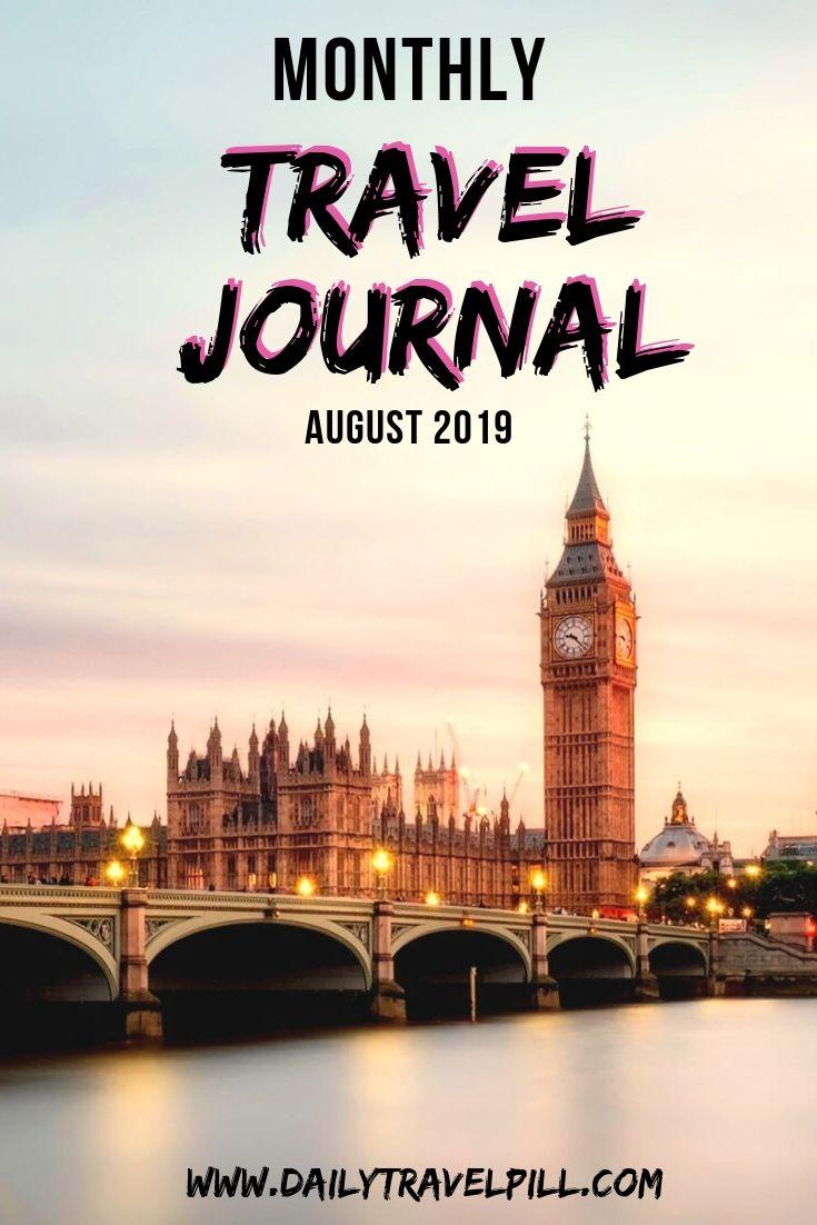 Monthly Travel Journal September 2019