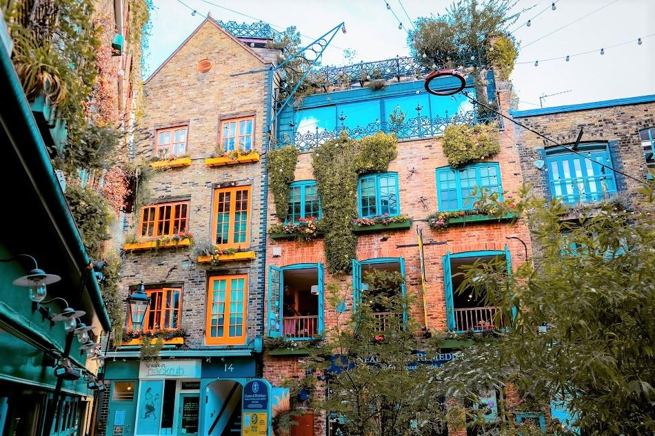Colorful buildings in Neils Yard Lodon