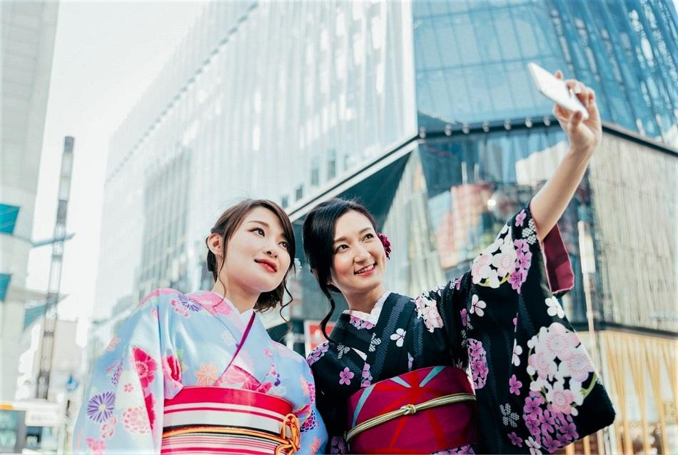 photography places in Tokyo when wearing a kimono