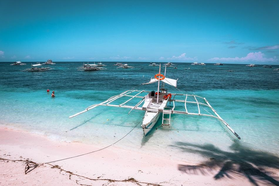 Boat at Alona Beach Panglao, Bohol