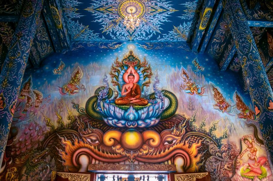 Blue Temple Chiang Rai, also known as Wat Rong Seua Ten