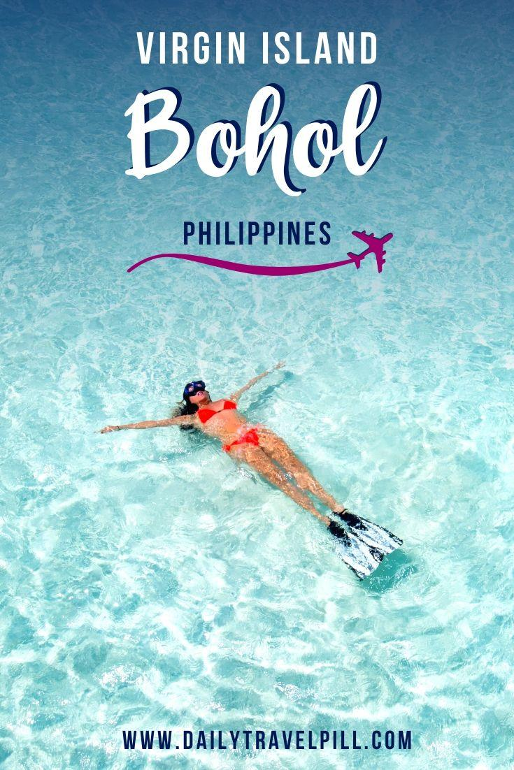 Girl swimming at Virgin Island Bohol