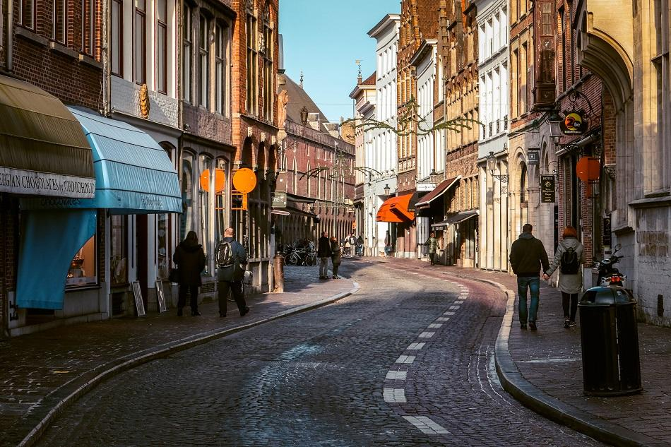 The streets of Bruges