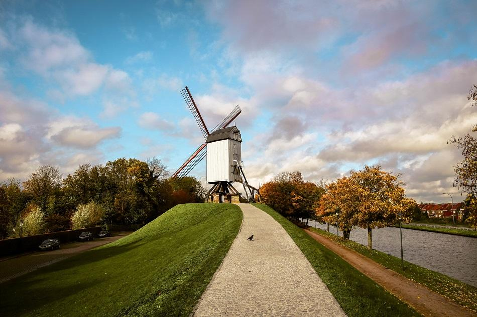 Bruges windmills photography