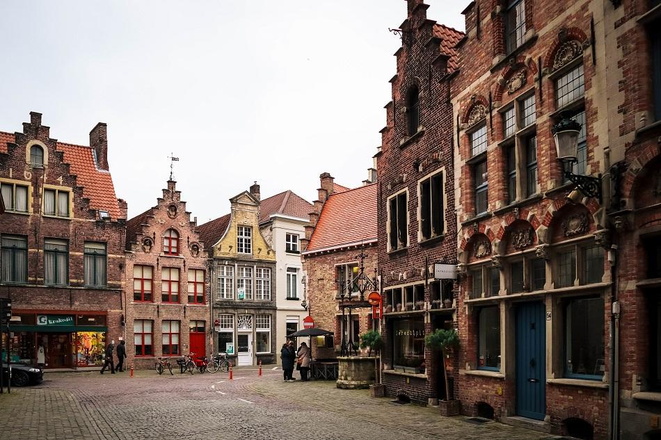 Houses facade of Bruges
