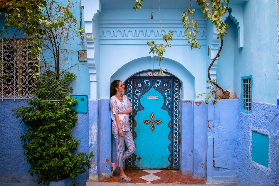 Door in Chefchaouen, Morocco