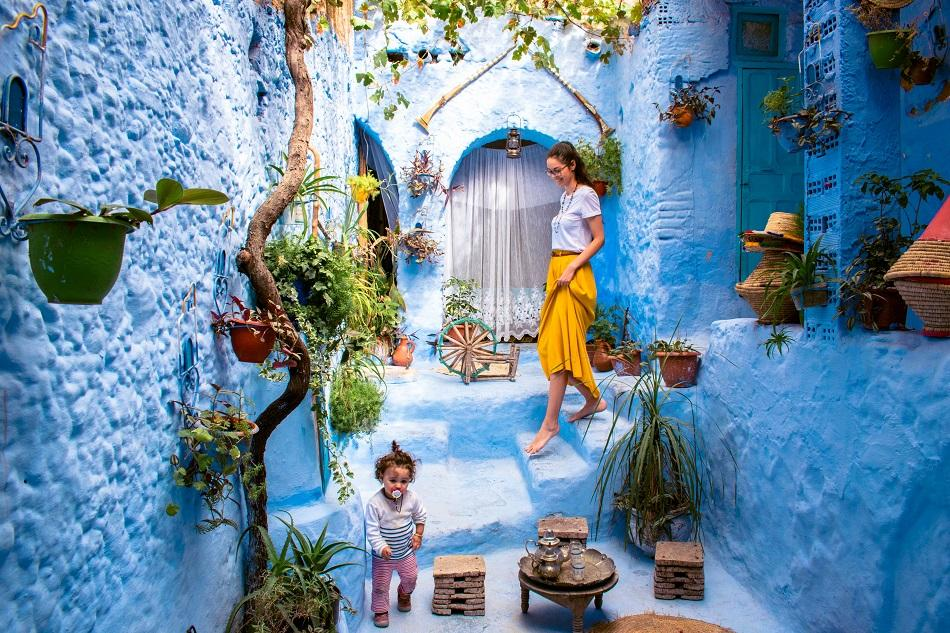 Insta-famous location in Chefchaouen, Morocco - photography