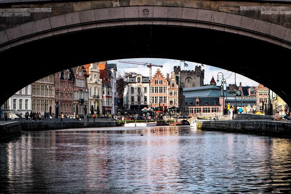 Ghent boat tour views
