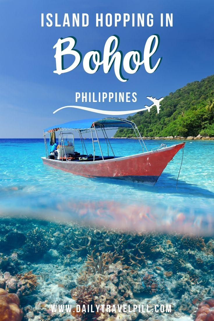 Island hopping tour in Bohol