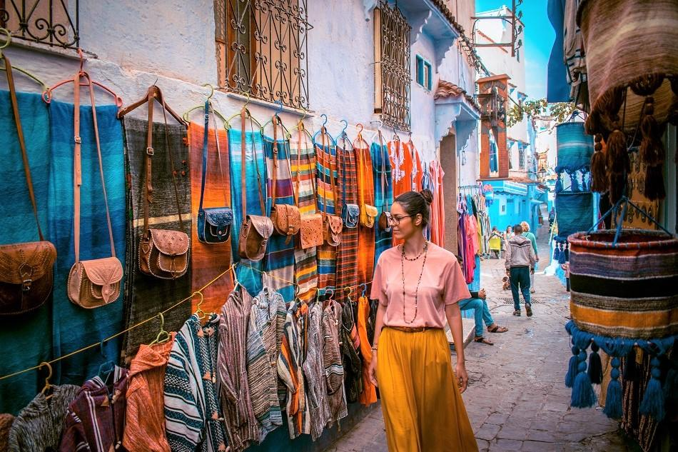 Shopping in Chefchaouen Morocco