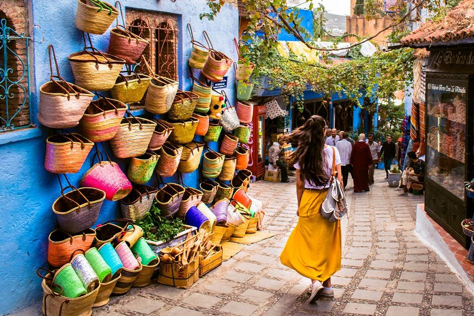 Shopping in Chefchaouen market