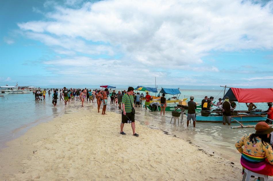 Tourists at Virgin Island Panglao, Bohol