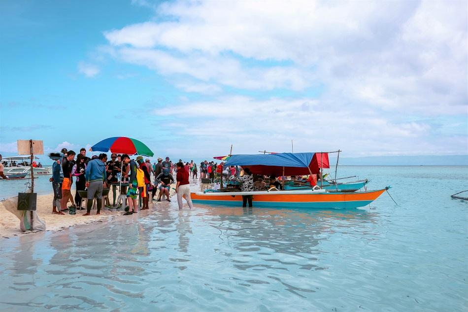 Floating restaurants at Virgin Island Panglao, Bohol