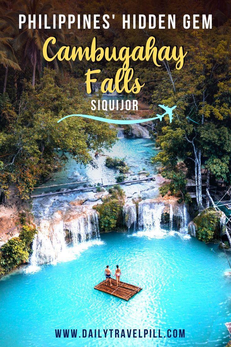 Cambugahay Falls, Siquijor drone view