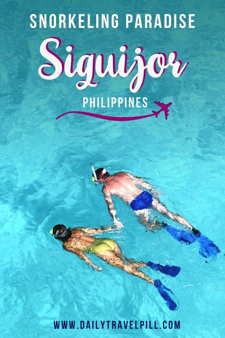 Tubod Beach snorkeling Siqujor