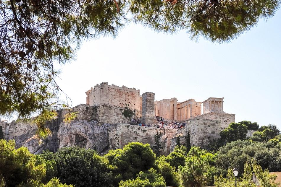 Acropolis view from Aeropagus Hill