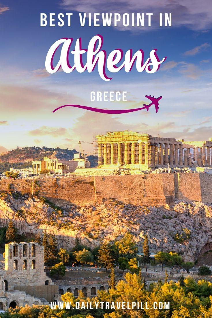 The best view of Acropolis in Athens - Aeropagus Hill