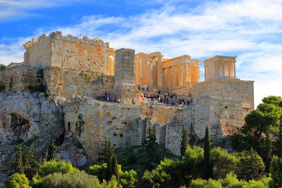 Acropolis view from Aeropagus Hill