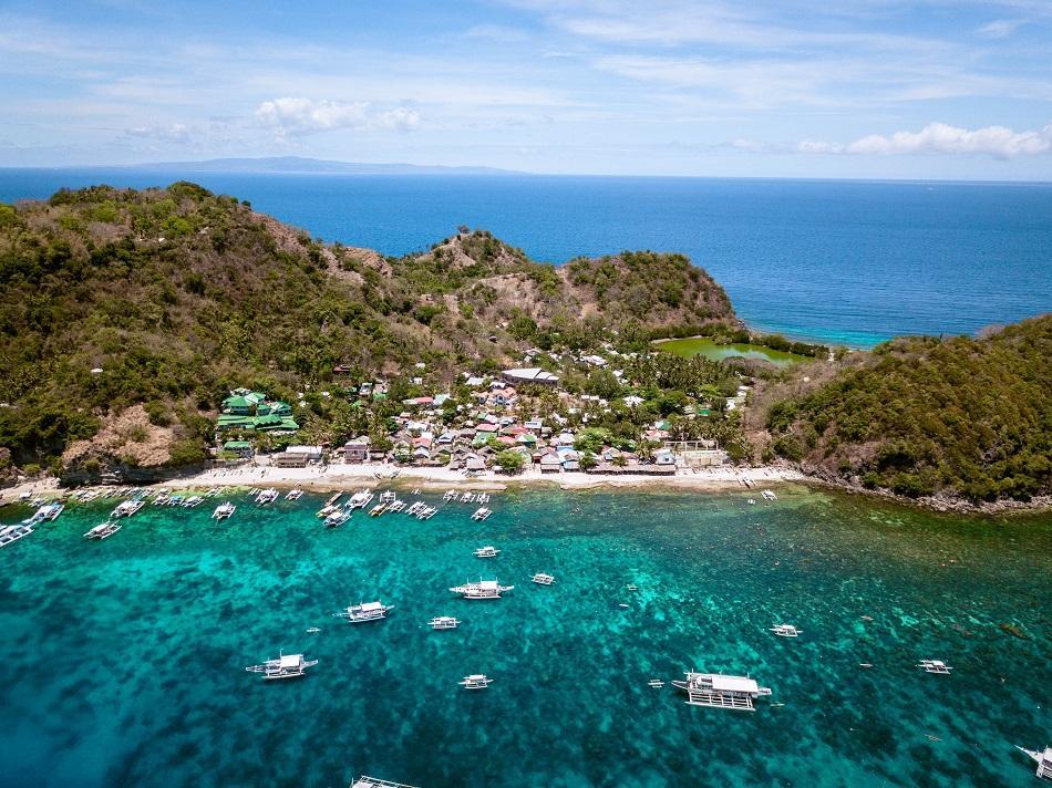 Apo Island aerial view