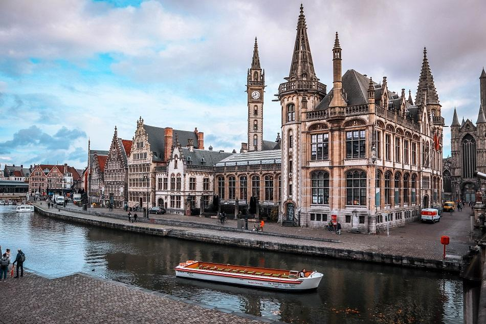 View from Graslei and Korenlei, Ghent