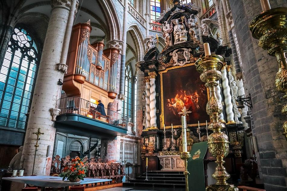 Inside of St. Bavo's Cathedral, Ghent