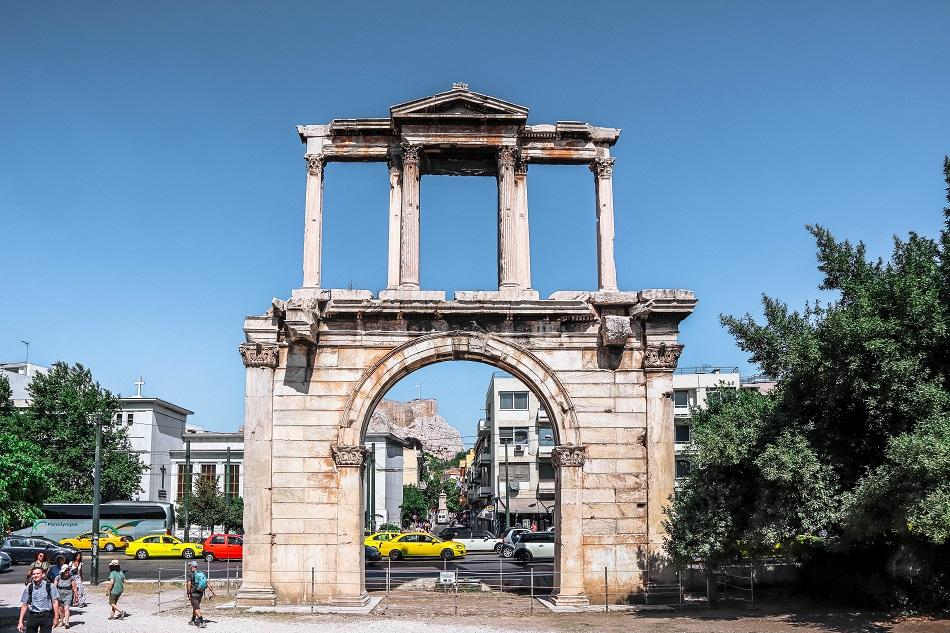 Hadrian's arch front view, Athens