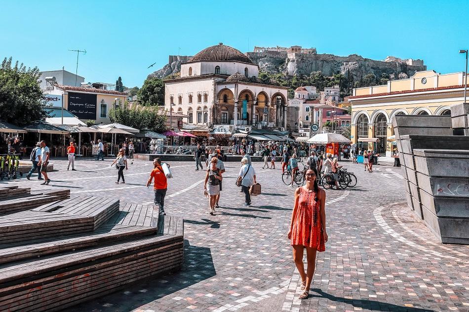 Girl at Monastiraki Square, Athens
