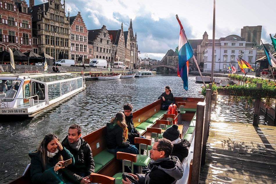 Boat tour in Ghent