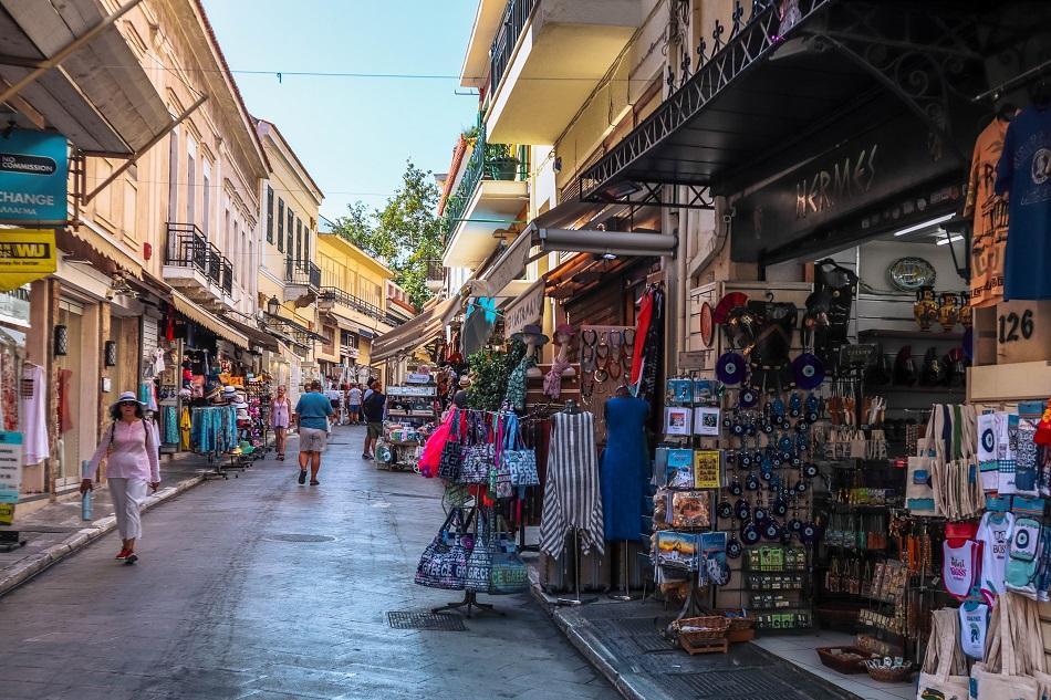 Plaka district Athens - souvenir shops