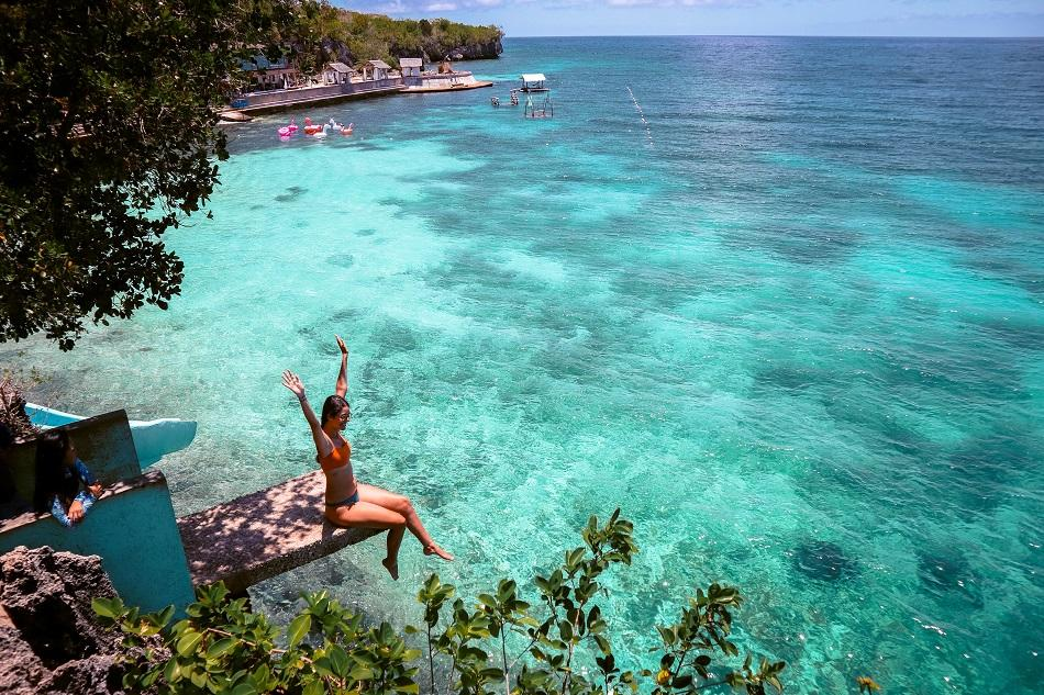 Jumping point at Salagdoong Beach Siquijor