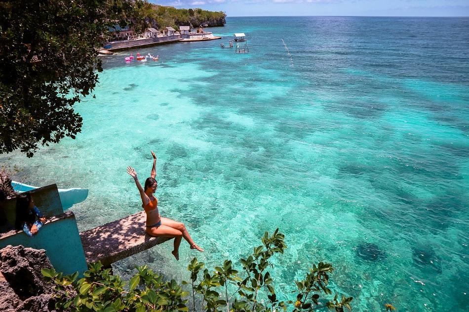Jumping point at Salagdoong Beach Siquijor