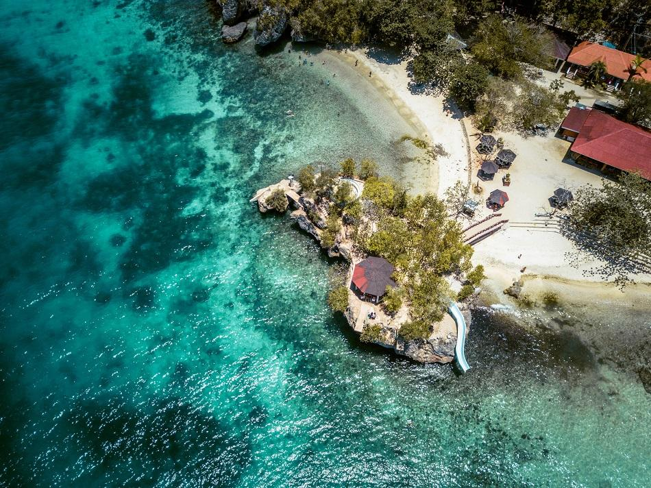Salagdoong Beach Siquijor drone view