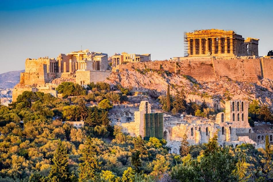 Sunset over Acropolis, Athens