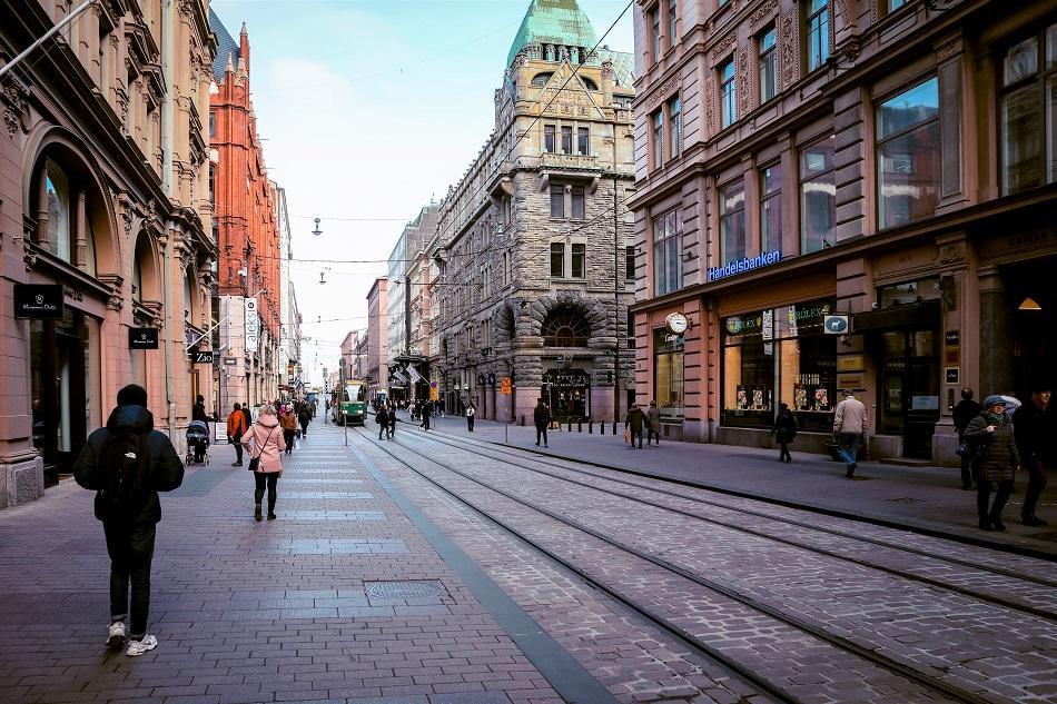 Aleksanterinkatu Shopping Street in Helsinki