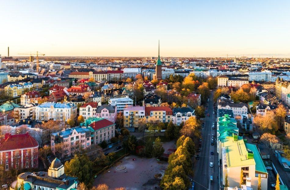 Helsinki seen from above